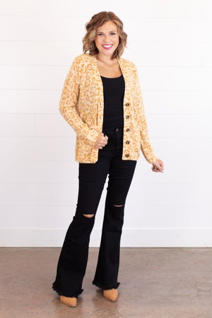 sku16901 | Animal Print Button Up Cardigan