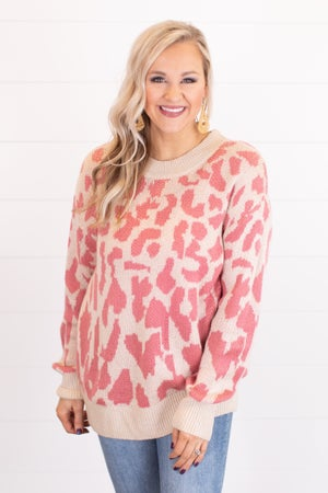 sku17229   Animal Print Sweater