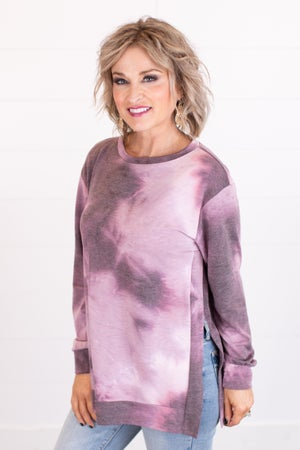 sku16341 | Tie Dyed Side Slit Tunic