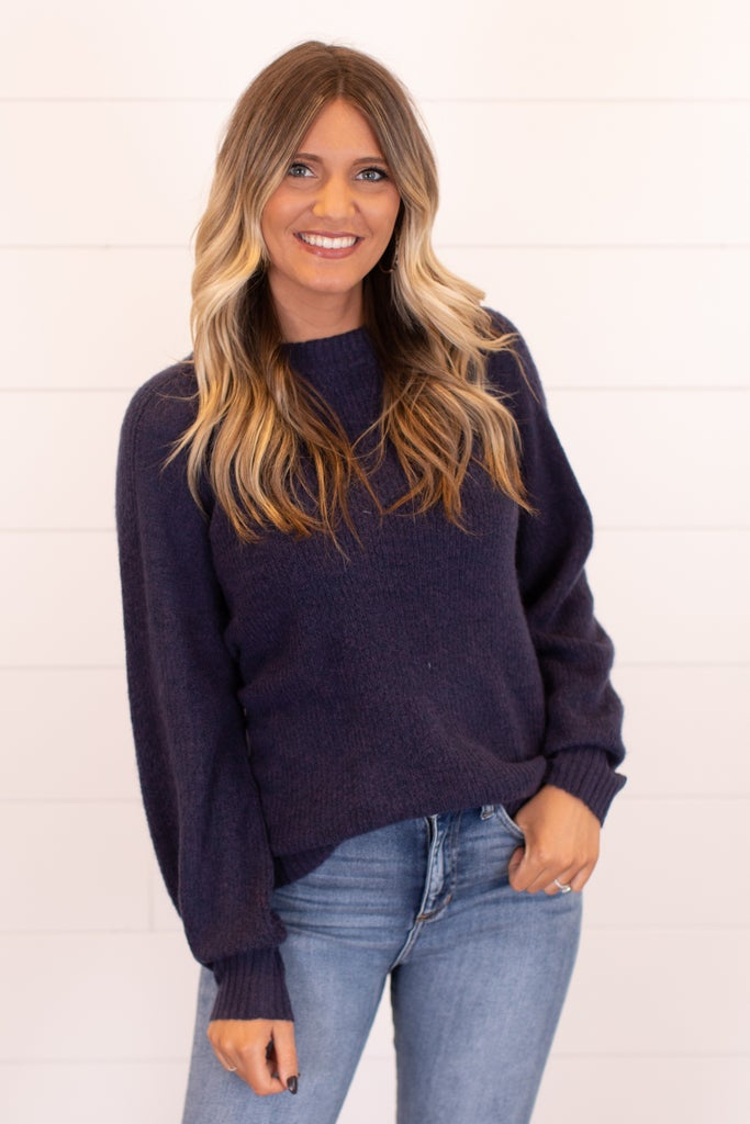 sku16979 | Ribbed Knit Raglan Sweater