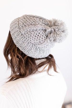 sku17717 | Soft Knit Pom Pom Beanie