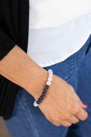 sku15291 | Lava Rock Stretch Bracelet