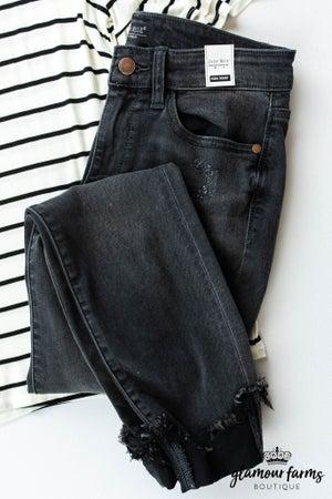 sku12779   Destroyed Hem Skinny Jean
