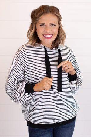 sku15711 | Sequin Striped Hoodie