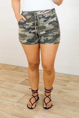 sku21359 | Camo Pull-On Shorts