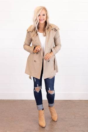 sku16006 | Double Breasted Trench Coat