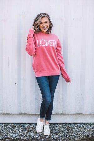 sku18262   LOVER Graphic Sweatshirt