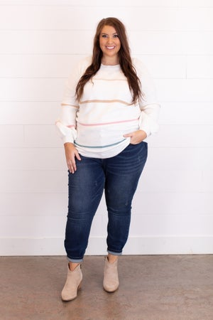 sku15481   Lurex Striped Sweater
