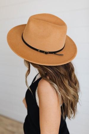 sku19894   Belted Fedora Hat