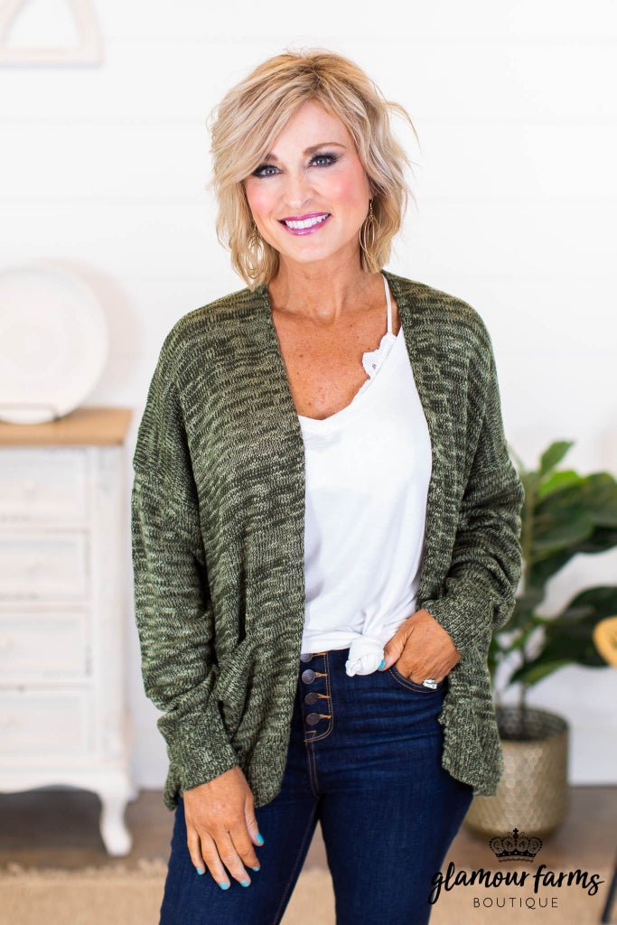 sku9316 | Heathered Knit Cardigan