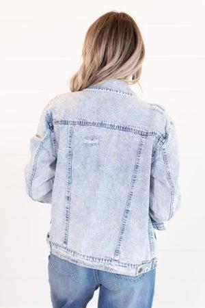 sku15900 | Distressed Acid Washed Denim Jacket