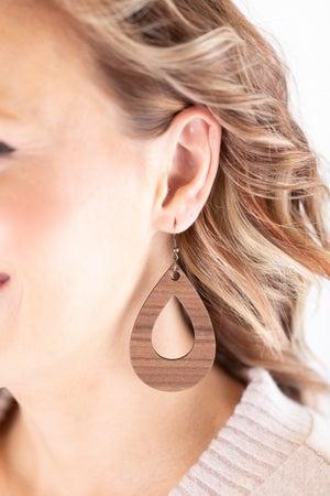 sku17802 | Wood Teardrop Earrings