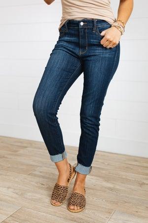 sku19282 | Raw Hem Skinny Jeans