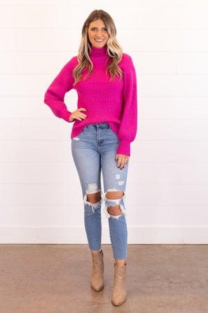 sku16752 | Ribbed Knit Turtleneck Sweater