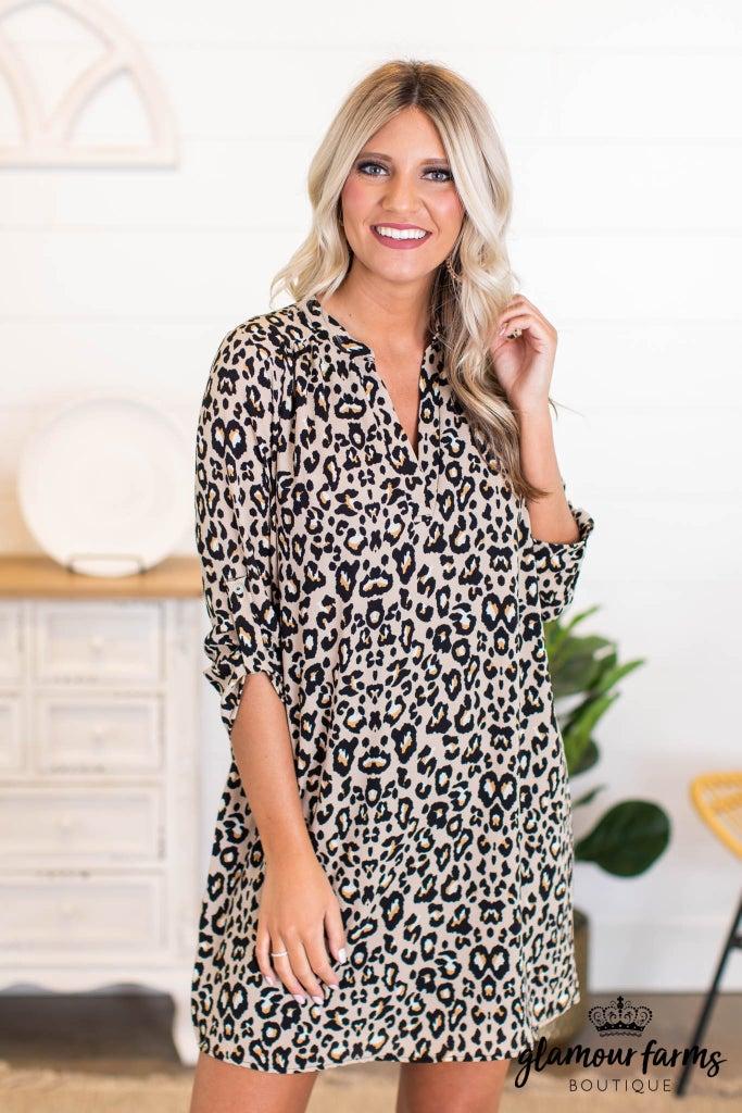 sku11007   Animal Print Dress