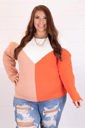 sku18049   Color Block Sweater