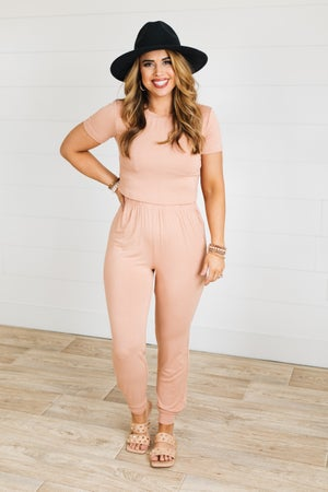 sku20154 | Two Piece Cropped Casual Jogger Set