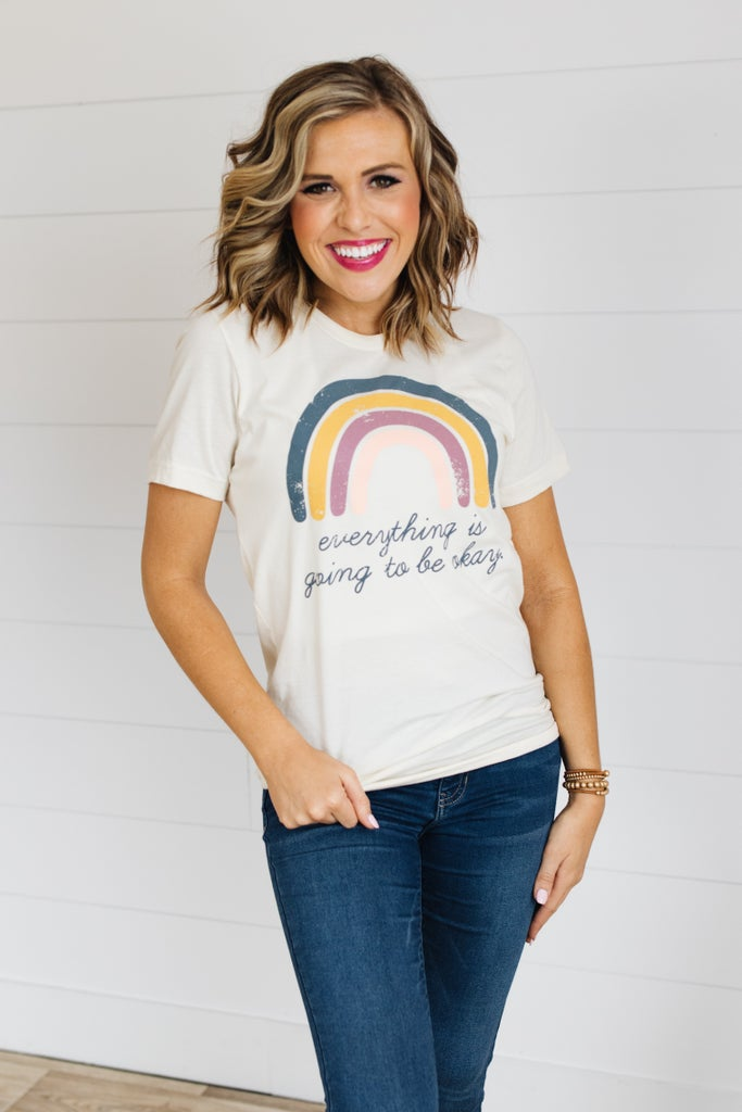 sku20062 | Everything Is Going To Be Okay Graphic Tee