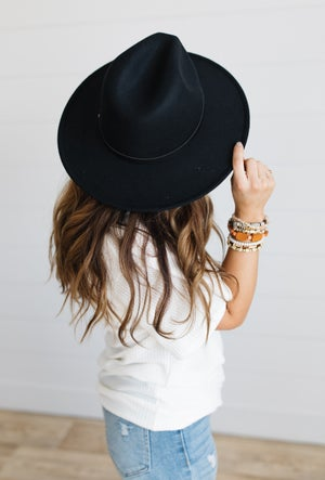 sku19868   Belted Fedora Hat