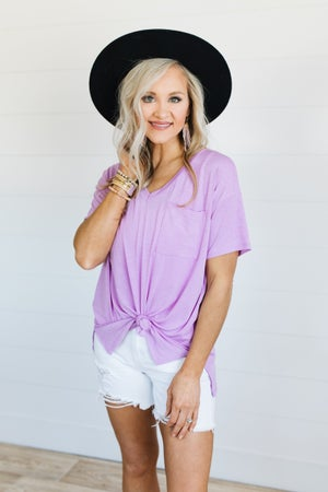sku19938 | V-Neck Pocket Top