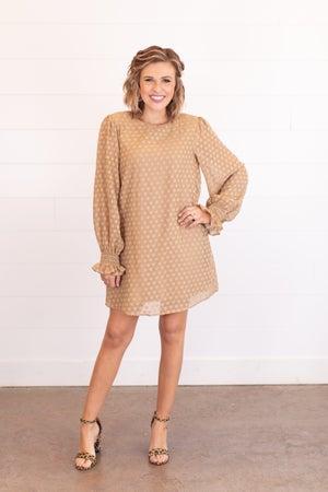 sku17459 | Lined Swiss Dot Dress