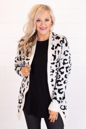 sku17494 | Animal Print Sweater Cardigan
