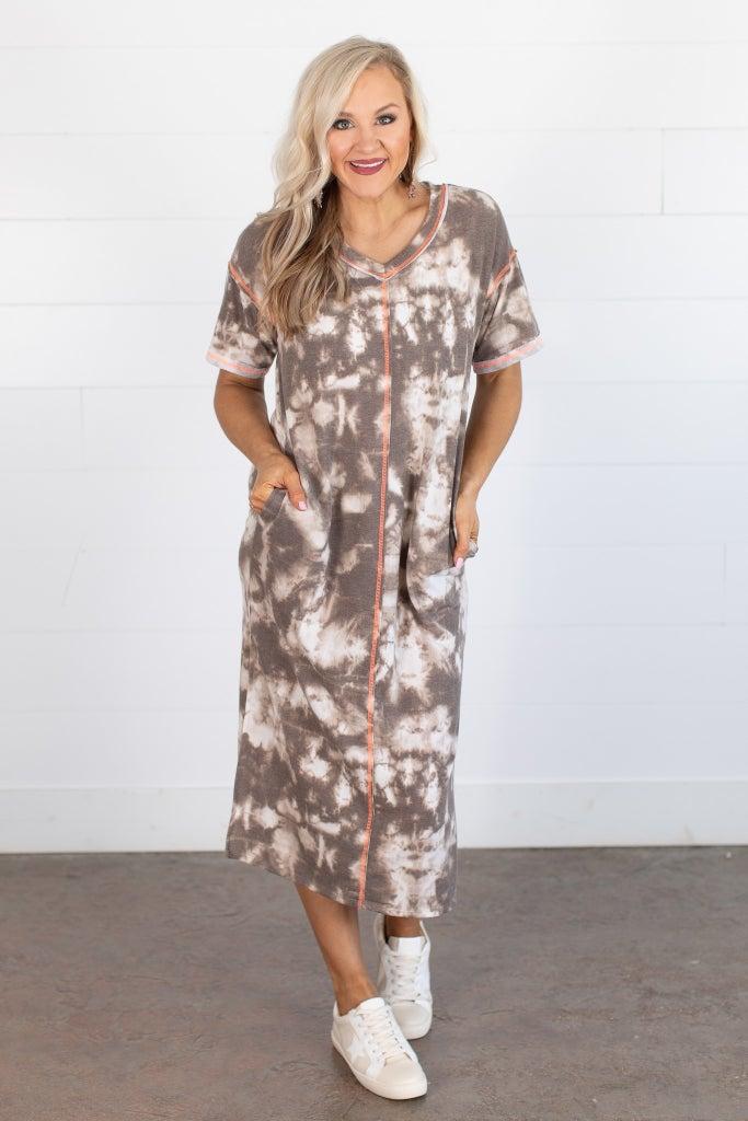 sku15567 | Tie Dye Tee Shirt Dress