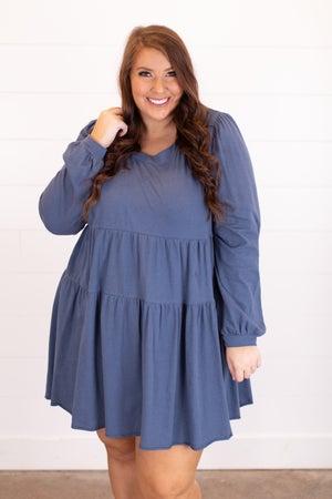 sku17126 | Tiered Raw Hem Dress