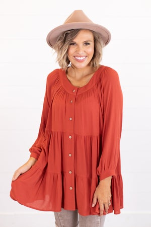 sku16360 | Tiered Button Up Tunic