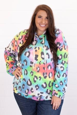 sku16733 | Animal Print Hooded Tunic