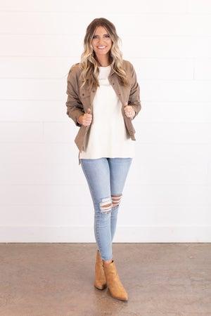 sku17132 | Snap Front Jacket