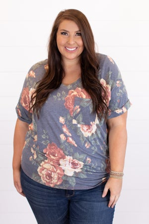 sku16721 | Floral V-Neck Tunic