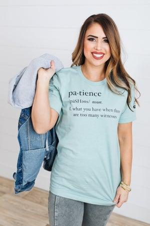 sku18655 | Patience Slim Fit Graphic Tee