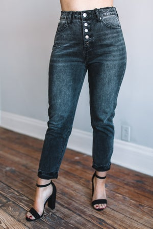 sku18354 | Distressed Mom Jeans