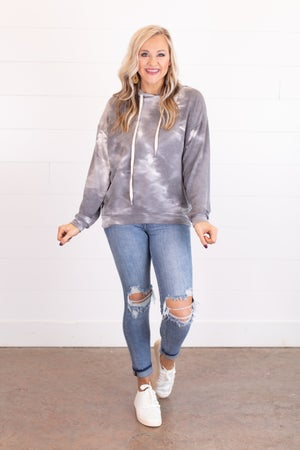 sku17953 | Tie Dyed Hooded Top