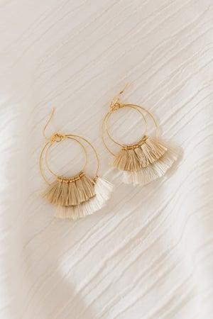 sku19644 | Two Tone Tassel Earrings