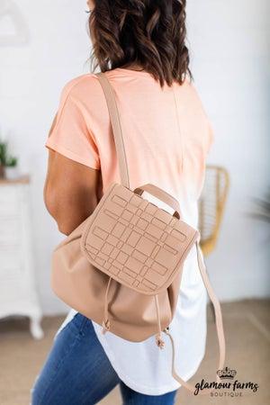 sku14935 | Woven Backpack Handbag