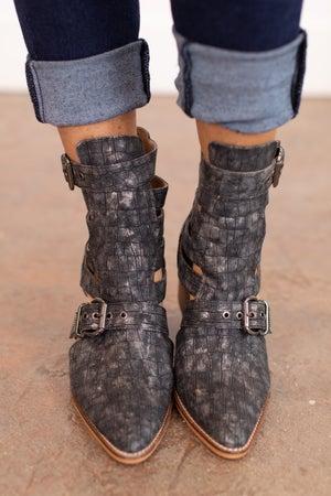 sku16083 | Robin Croco Double Buckle Boot