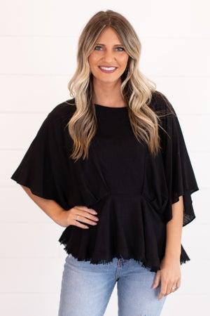 sku16585 | Linen Kimono Sleeve Top