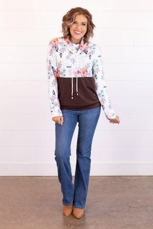 sku16659   Color Block Drawstring Pullover