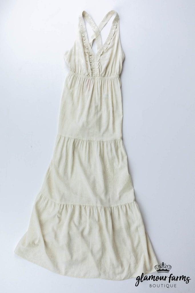 sku13113 | Tiered Halter Maxi Dress