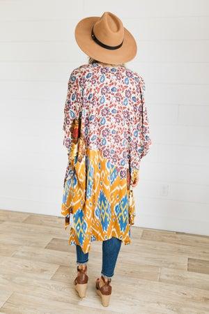 sku21311 | Mixed Print Boho Kimono