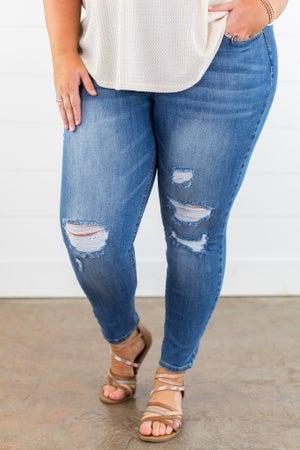 sku15125   Distressed Skinny Jean