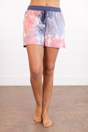 sku16089 | Tie Dyed Drawstring Shorts