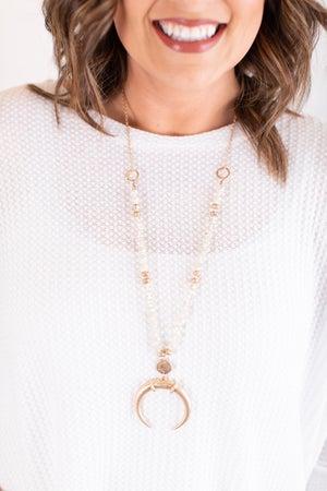 sku17354 | Horn Bead Necklace