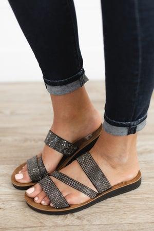 sku18337   Kaplan Beaded Slide Sandal