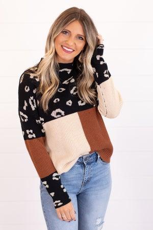 sku16910 | Color Block Knit Sweater