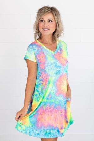 sku15556 | Tie Dyed Pocket Dress