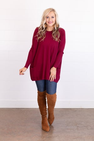 sku17755 | Two Pocket Tunic Sweater