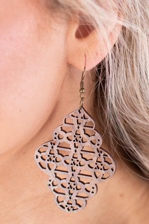 sku16811 | Filigree Wood Earrings